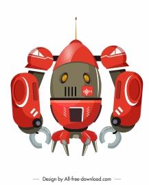robot model icon shiny colored modern design