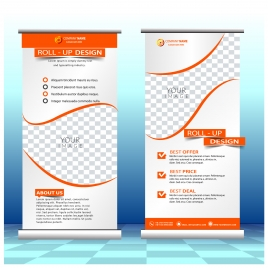 roll up banner design with modern style