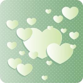 romantic background heart shapes decoration paper cut design