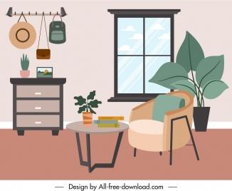 room decor template objects sketch elegant classic decor