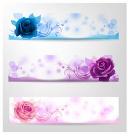 Rose banner set