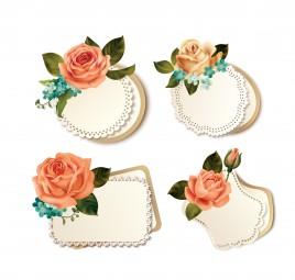 rose frame decoration
