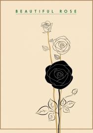 rose icon draft hand drawn style