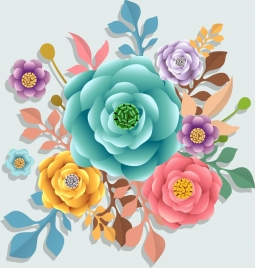 roses background colorful classical decor