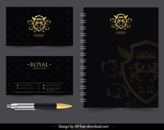 royal decorative template luxury golden black