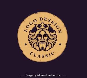 royal logo template retro european circle decor