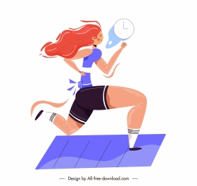 runner icon cartoon character sketch motion design