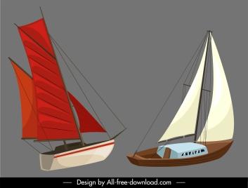 sailboat templates contemporary sketch