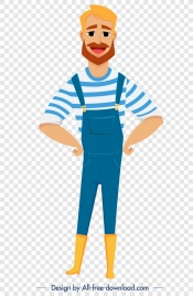 sailor icon colored cartoon character