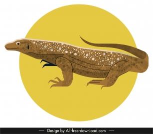 salamander icon 3d colored classic sketch