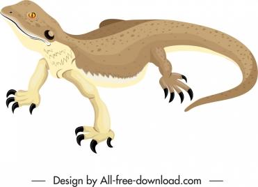 salamander reptile icon 3d colored sketch