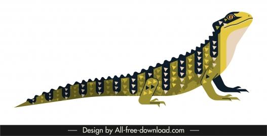 salamander species icon colored classic decor