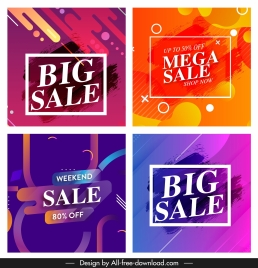 sale banner templates colorful abstract decor