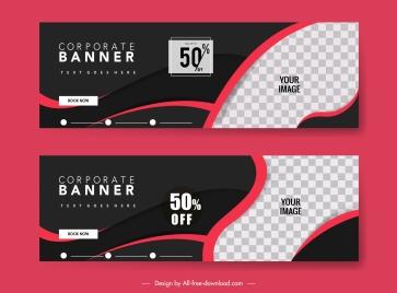 sale banner templates elegant red black checkered decor