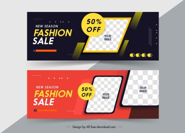 sale banner templates modern colorful checkered decor