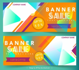 sale banner templates modern colorful eventful abstract decor