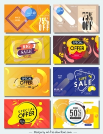 sale banners templates colorful modern dynamic decor