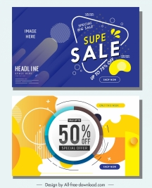 sale banners templates modern flat abstract geometric decor
