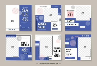 sale poster templates elegant checkered plain decor