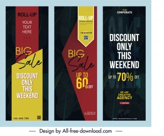 sale poster templates elegant dark vertical design