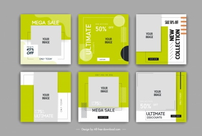 sale poster templates flat geometric shapes decor