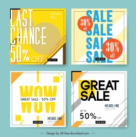 sale poster templates modern flat texts layout