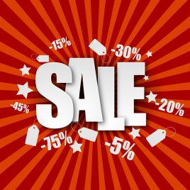 sale poster with eventful percent discount