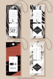 sale tags templates modern abstract strokes decor