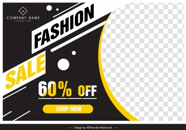 sales advertising banner contrasted design checkered decor