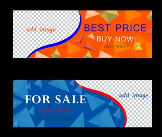 sales banner templates checkered and crystal background