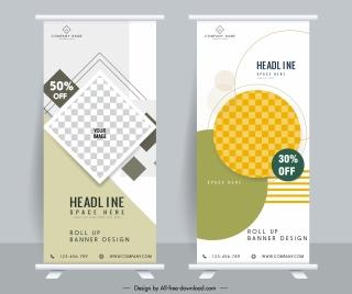 sales banner templates elegant modern standee shape