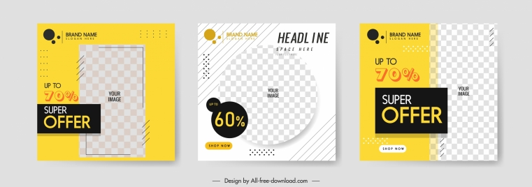 sales leaflet templates modern flat checkered decor
