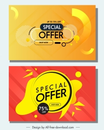 sales posters templates abstract geometric dynamic decor