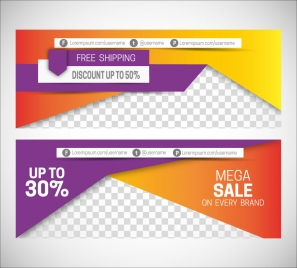 sales promotion banners on 3d modern style background
