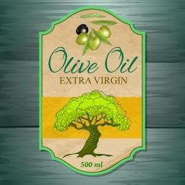 sales tag template olive oil icon retro flat