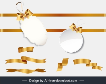 sales tags design elements elegant modern golden shapes