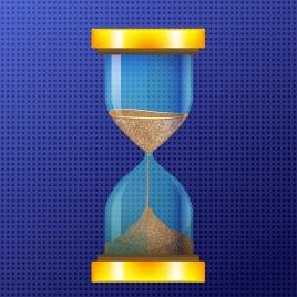 sand glass icon shiny vertical design