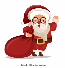santa claus icon cute cartoon character sketch