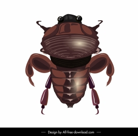 scarab icon shiny brown modern design