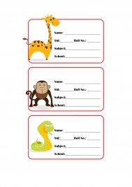 School Labels for kids