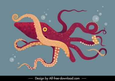 sea background octopus animal sketch motion design