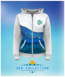 sea collection style designed coat