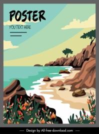 sea scene poster colorful classical design
