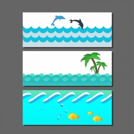 sea water background sets