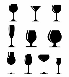set of black silhouette glasses