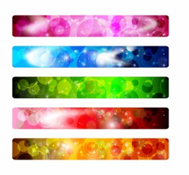 Set of colorful abstract banner