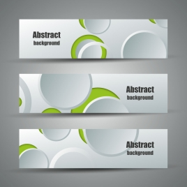 sets of abstract banners design with 3d circles