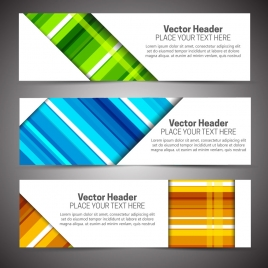sets of colorful abstract vector headers