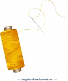 sewing background stitch needle icons shiny modern design