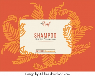 shampoo label template classic orange leaves decor